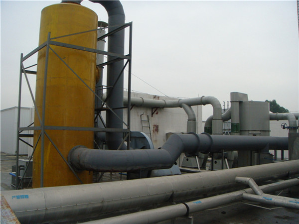 废气管路连接处理排放